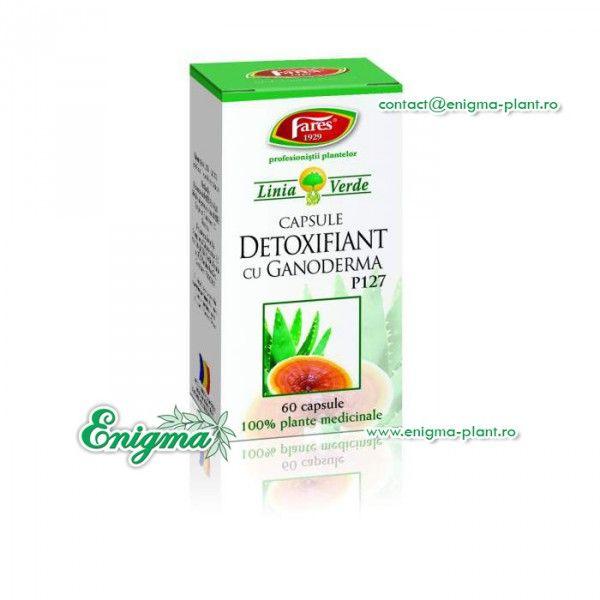 Detoxifian cu Ganoderma, P, 60 capsule, Fares : Farmacia Tei online