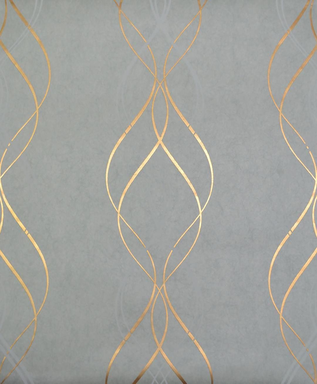 Antonina Vella Aurora Wallpaper Blue Amp Gold In 2020