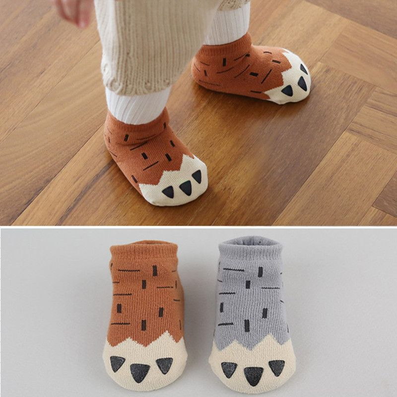 Babys shop Baby Cartoon Unisex Toddler Anti-Slip Short Sock Kids Warm Cotton Socks