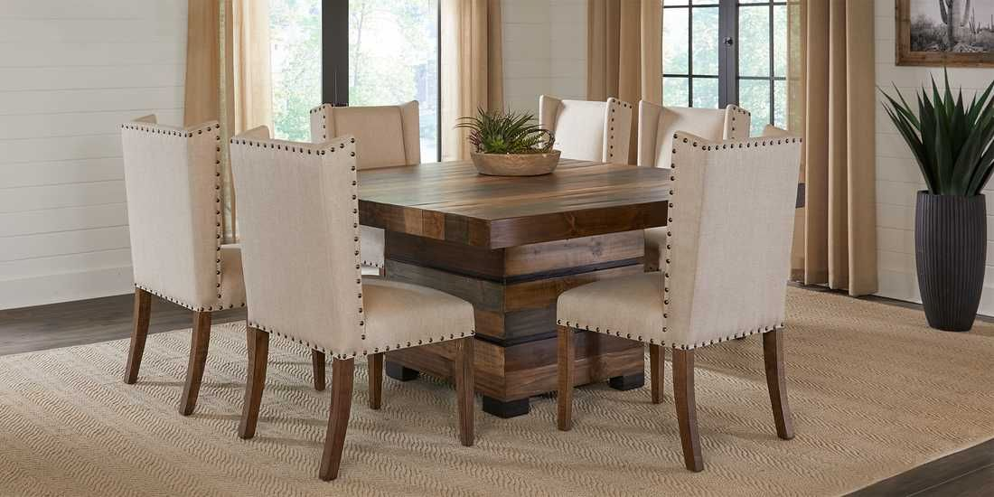 cindy crawford home westover hills brown 5 pc square on rooms to go dining room furniture id=53428