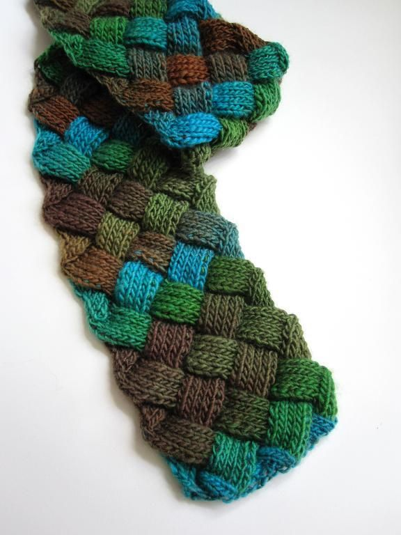 Evan Entrelac Scarf By Mimi Kezer Knitting Pattern Looking For