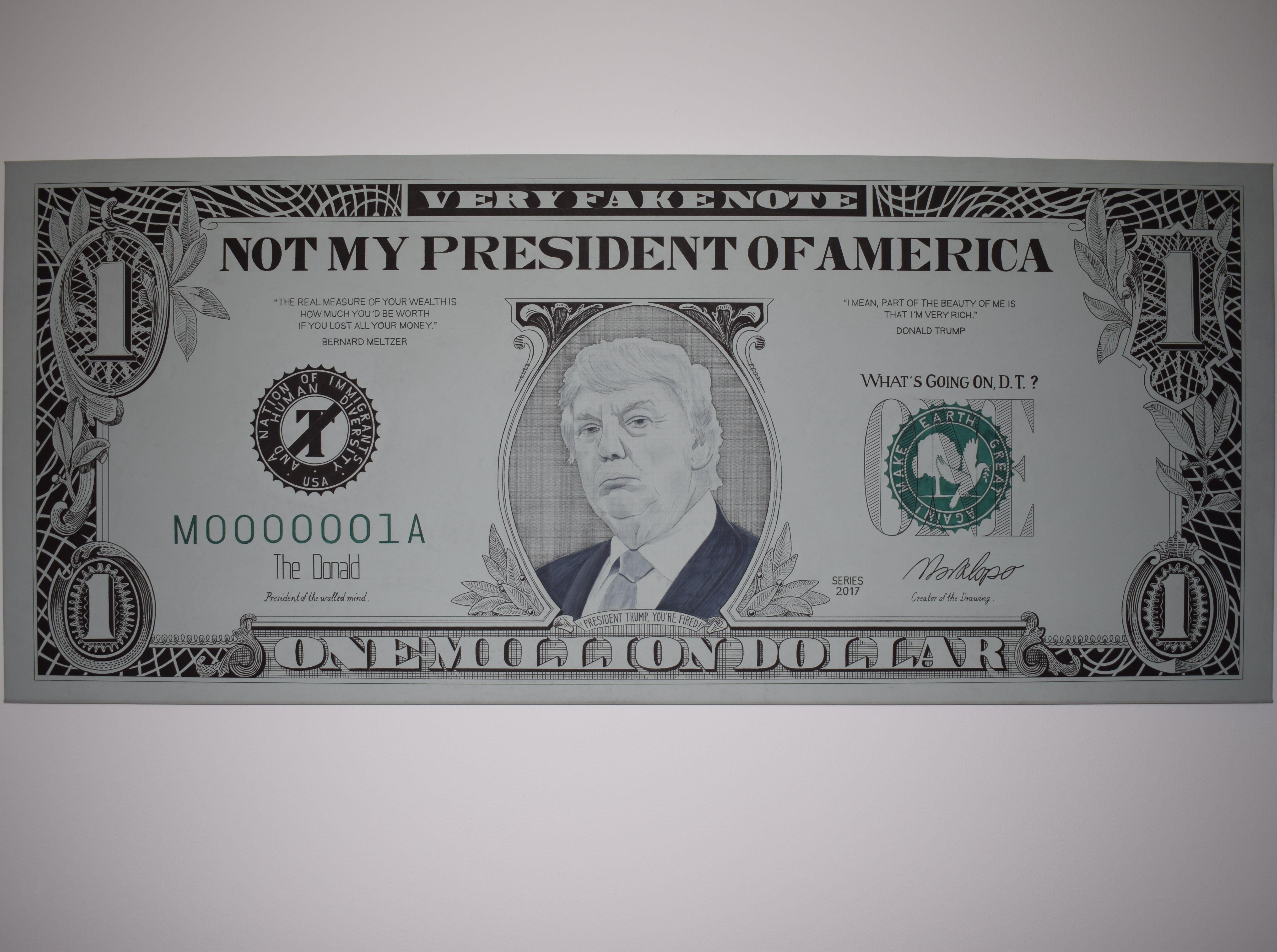 Not My President Trump One Million Dollar Bill
