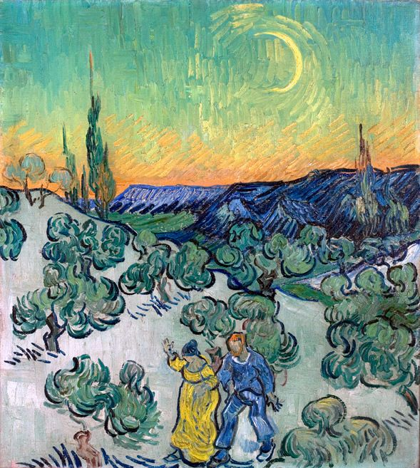 Vincent van Gogh    Walk in the Twilight, ca 1890