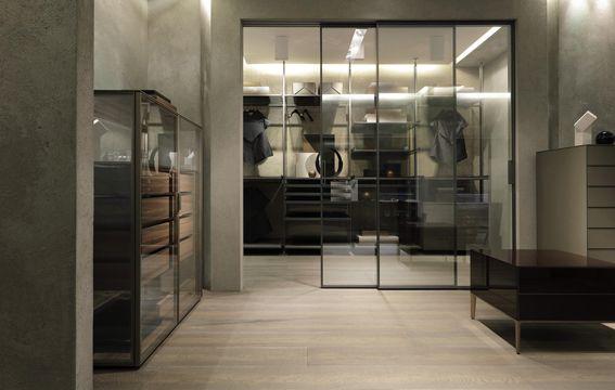 Porte Cabina Armadio Rimadesio : Showroom como rimadesio in italia: porte scorrevoli in vetro e
