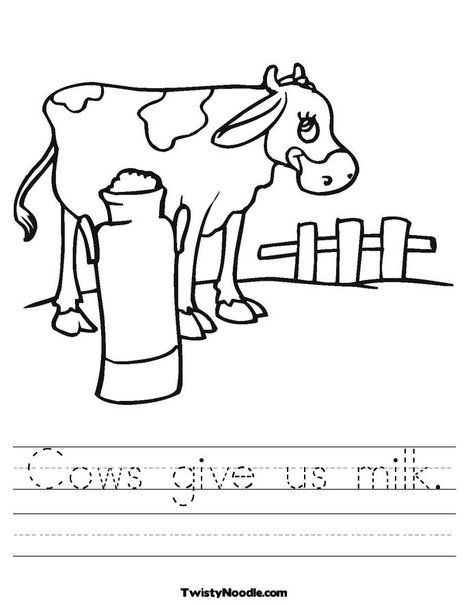 Black And White Cow Worksheet Milk Carton Crafts Cow