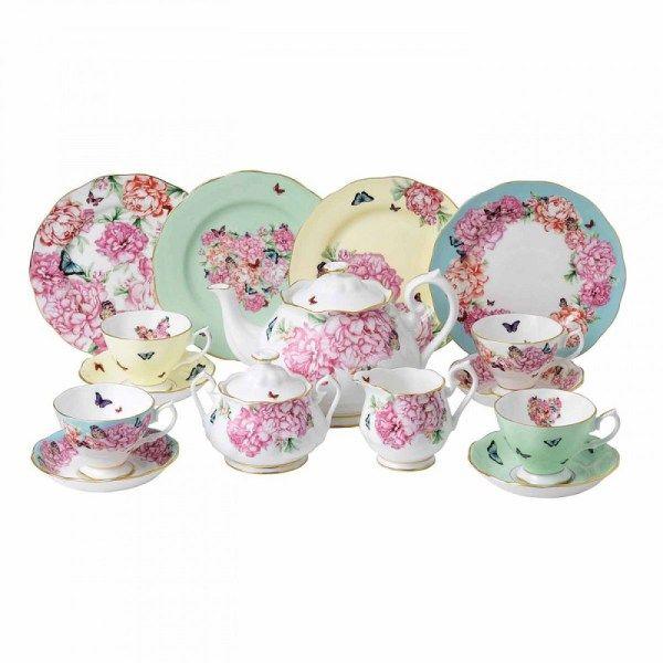 service à thé Miranda Kerr en porcelaine anglaise Royal Albert ...