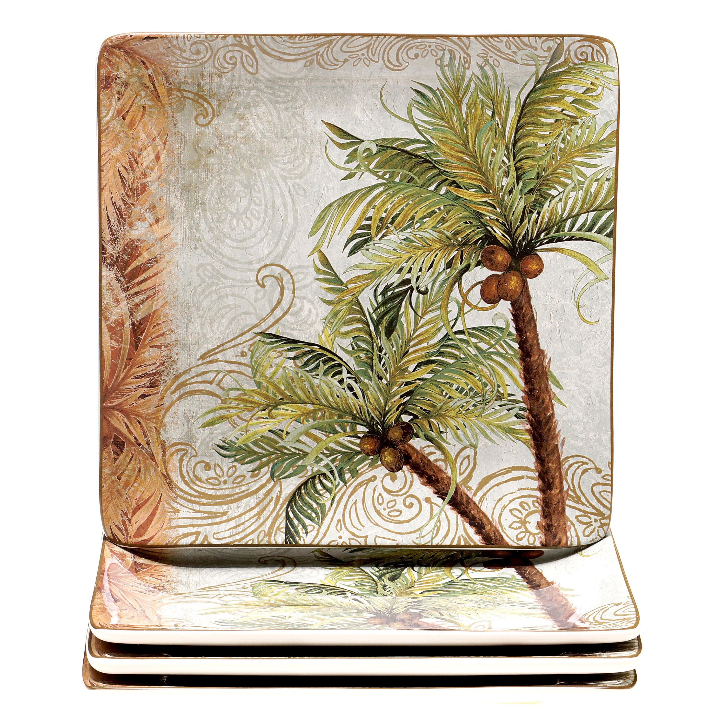 Lend breezy style to your table with this swaying Key West dinner plate set. Crafted  sc 1 st  Pinterest & Lend breezy style to your table with this swaying Key West dinner ...
