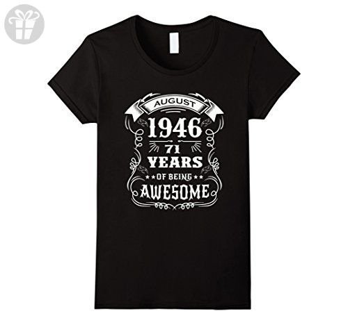 Womens 71st Birthday Gift - 71 years of being awesome T-Shirt Small Black - Birthday shirts (*Amazon Partner-Link)