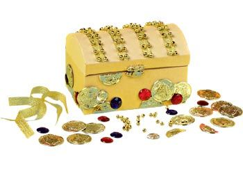 How To Decorate A Treasure Box Paper Mache Treasure Chest Kit Includes Decorations  Pirate Party