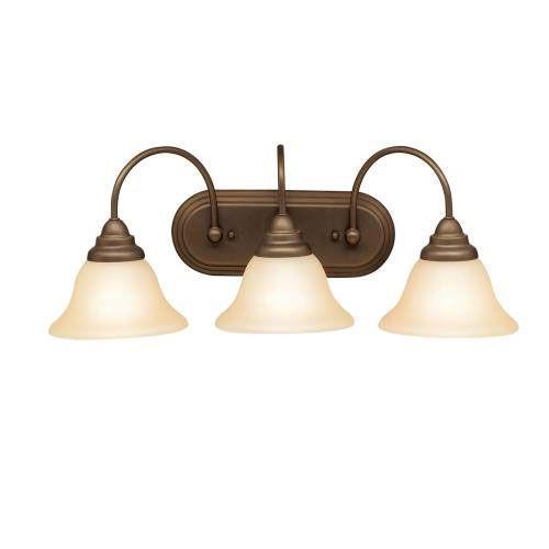 Telford collection 3 light bath fixture in olde bronze kichler lighting pendant ceiling landscape light fixtures