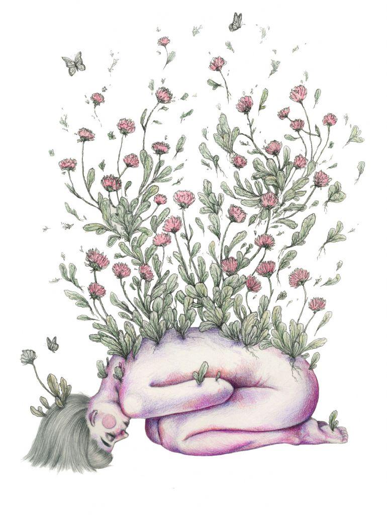 Resultado de imagen de flowers drawings tumblr   Dibujos, Cuerpos ...