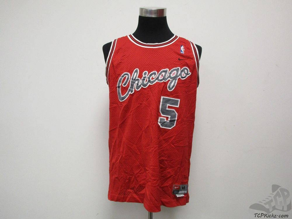 low priced b5805 1456f Nike Chicago Bulls Derrick Rose #5 SEWN Basketball Jersey sz ...