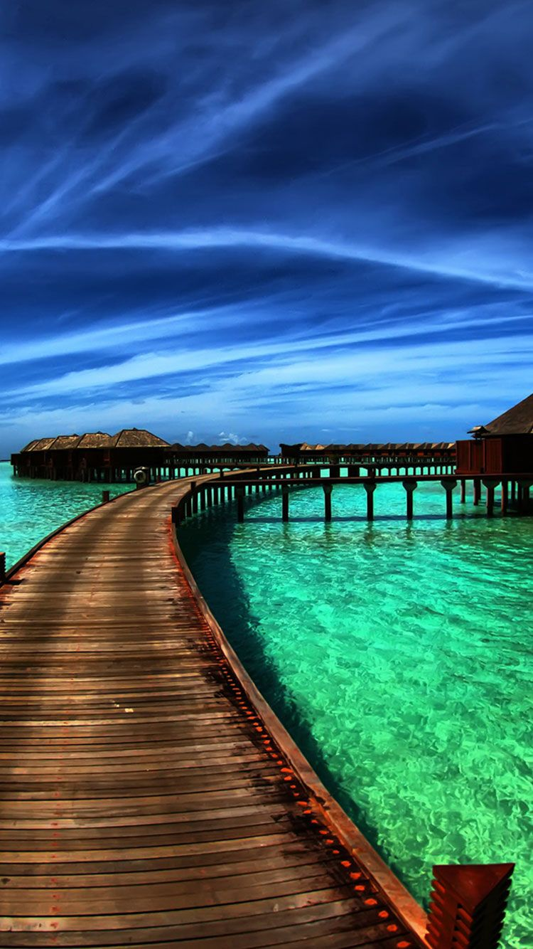 30 Hd Tropical Beach Iphone Backgrounds Scenery Wallpaper