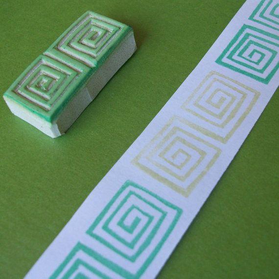 Rubber Stamp Winter in Scandinavia Hand Drawn Pattern | DIY