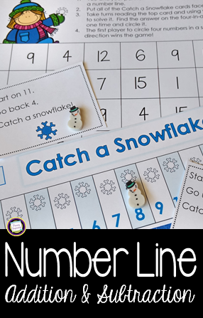 Winter Number Line Addition and Subtraction | Primary