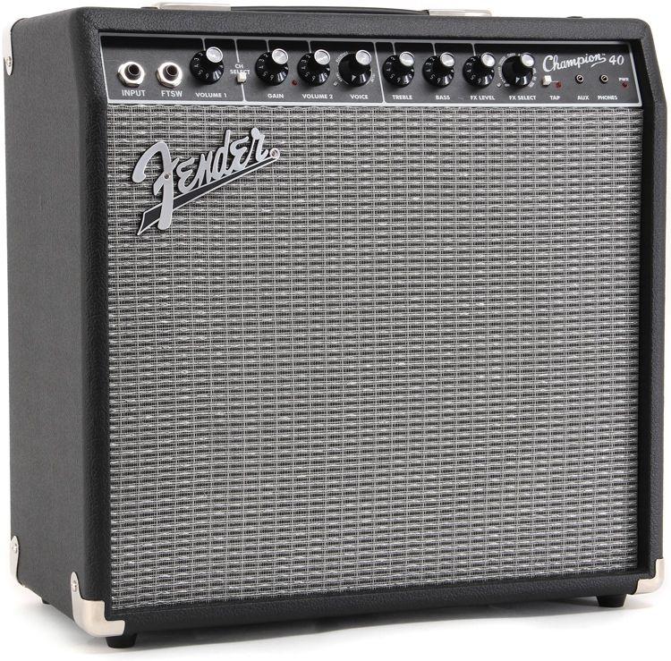 Fender Champion 40 1x12 40 Watt Combo Amp Guitar Amps For Sale Guitar Amp Acoustic Guitar Amp