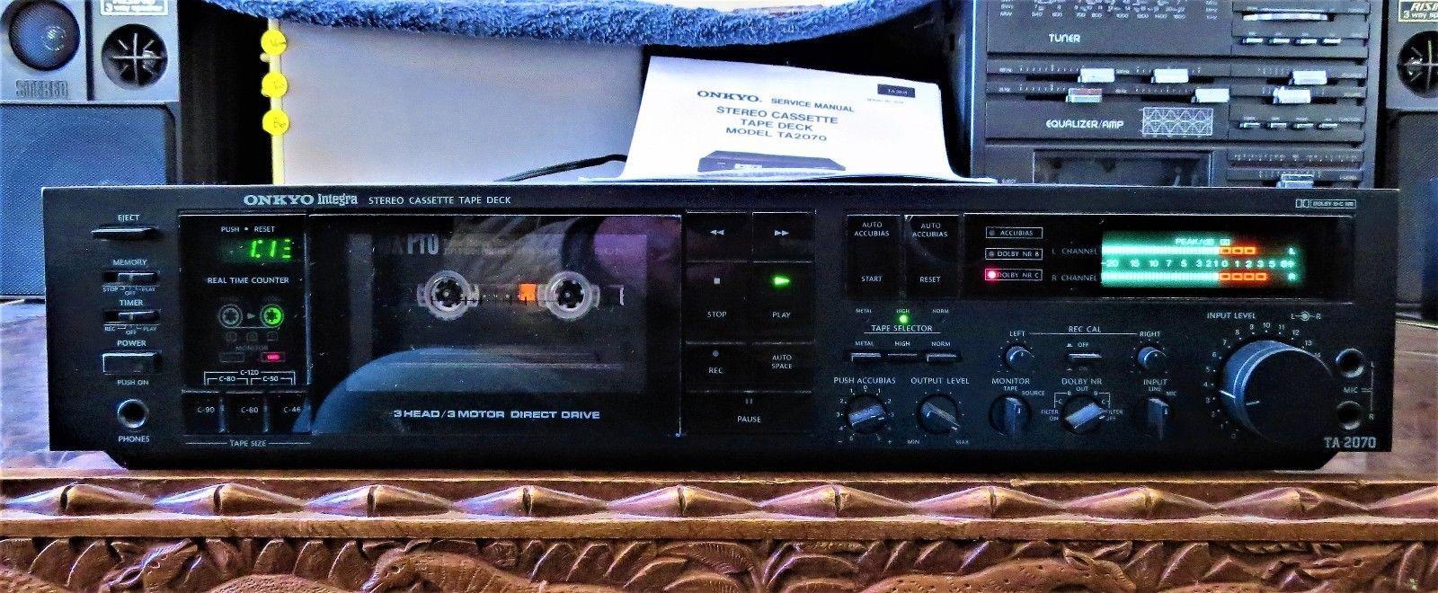 ONKYO Integra TA-2070 Cassette Tape Deck 3 Head 3 Motor