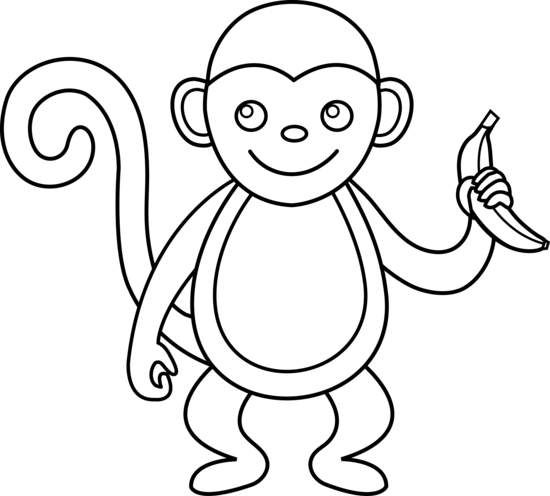 Monkey Clipart Google Search Free Clip Art Black And White Drawing Monkey Drawing