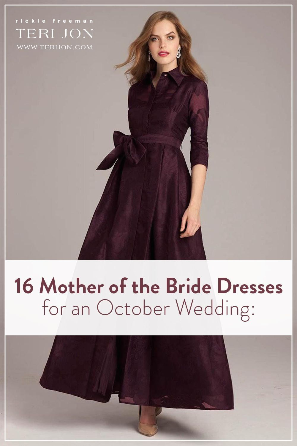 16 mother of the bride dresses for an october wedding