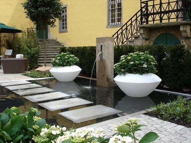 gartengestaltung idee teich rechteckig   teich & teichfilter, Gartenarbeit ideen