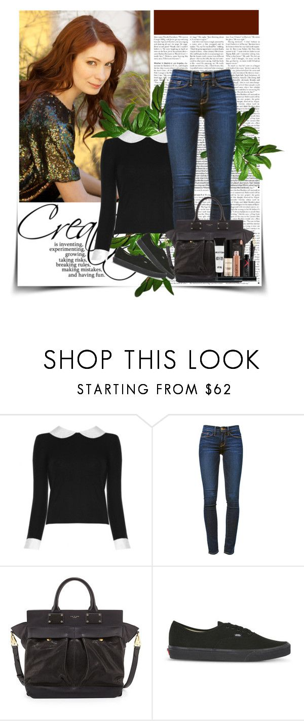 """""""Felicia Day."""" by pecio-chan ❤ liked on Polyvore featuring Alice + Olivia, Frame Denim, rag & bone, Vans, Smashbox and feliciaday"""