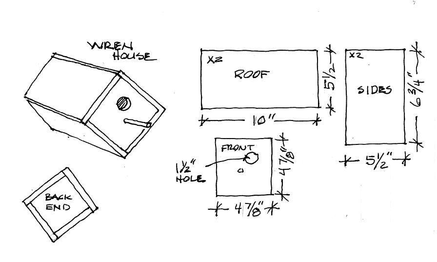 Free Easy Bird House Plan Ideas For Simple Birdhouses For Kids To Make Simple Birdhouse Plans Bird House Plans Free Wren House Bird House Plans