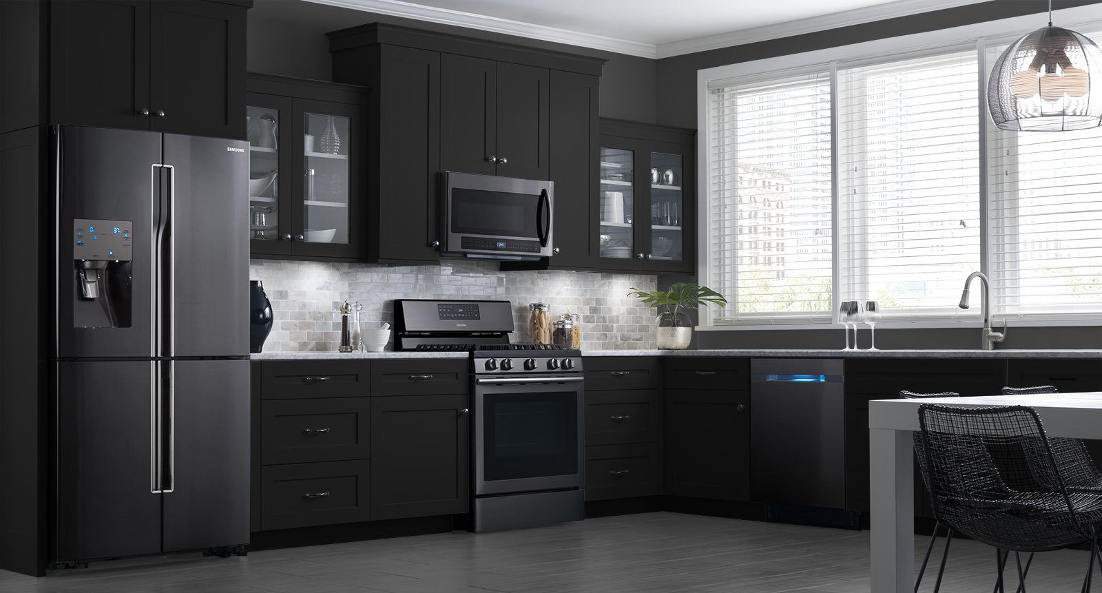 Home Appliances Kitchen Laundry Appliances Kitchen Design Decor Kitchen Design Trends Black Kitchen Cabinets