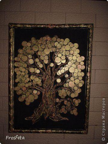 Дерево из монет картина 104