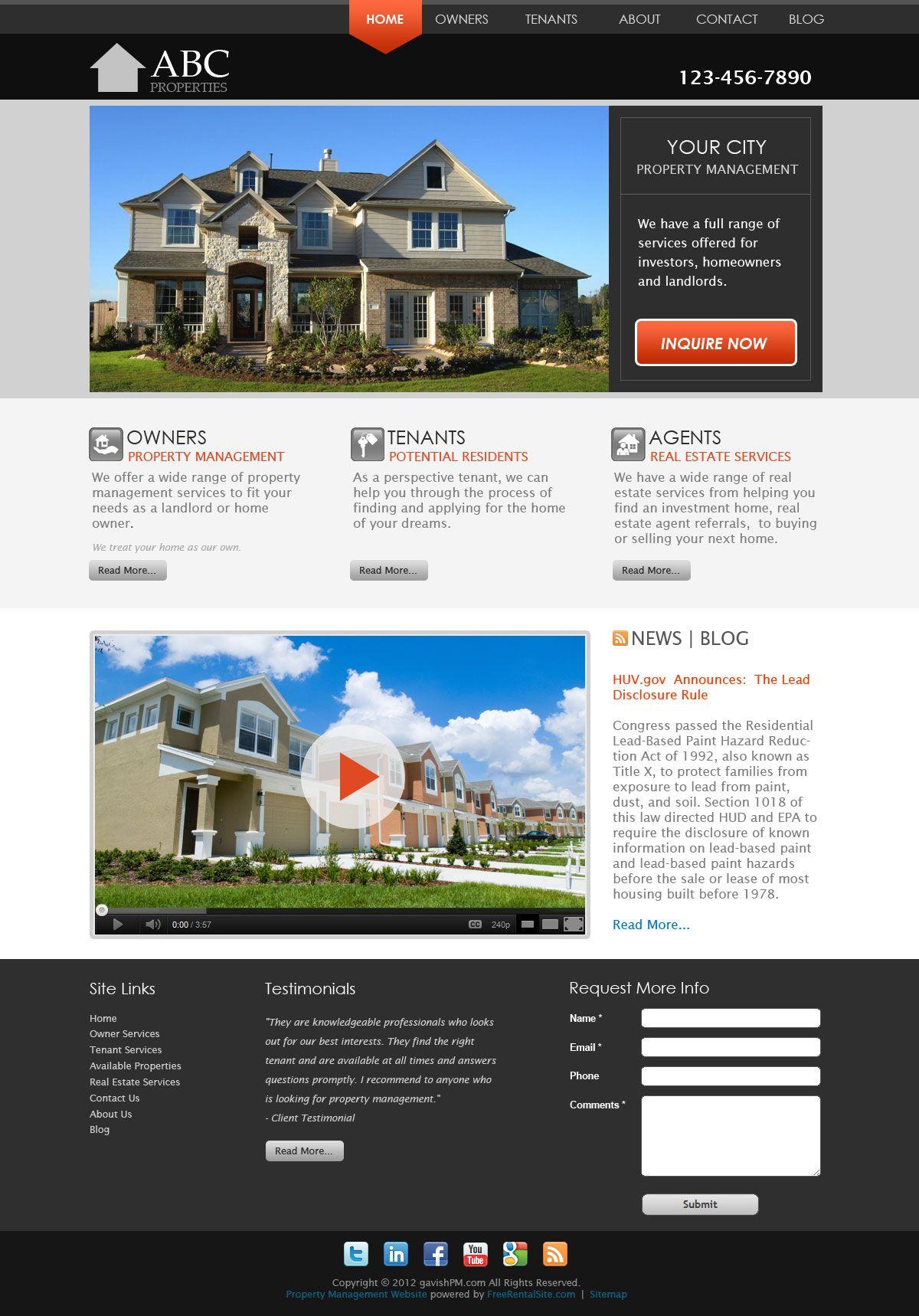 The Loft - Standard - Property Manager Websites Smart Site Design ...