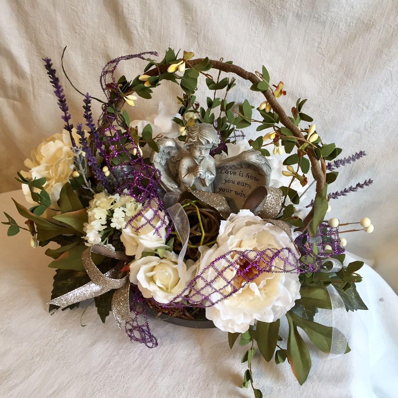Sympathy floral arrangementangel sympathy floral arrangementcream sympathy floral arrangementangel sympathy floral arrangementcreamgreenpurple izmirmasajfo