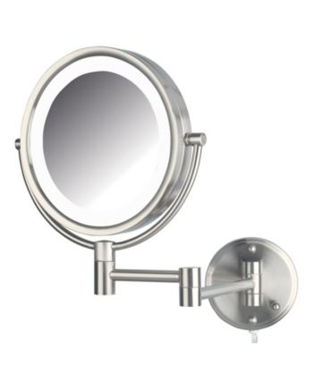 Jerdon The Hl88nl 8 5 Led Lighted Wall Mount Makeup Mirror
