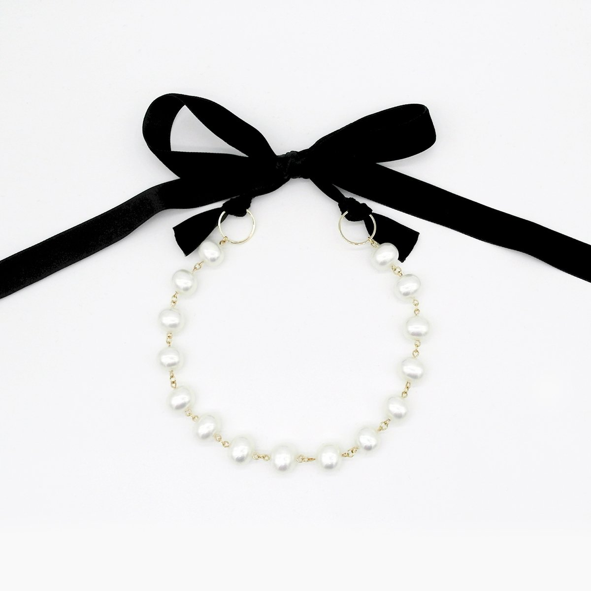 Pearl Ribbon Necklace Pearls Necklace Ribbon Necklace