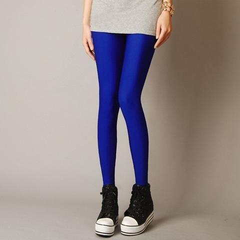 e3353541156a7d Women Slim spandex Leggings Solid Candy Color Neon Leggings Adventure Time  Skinny High Elastic female Pants Hot& soft legins