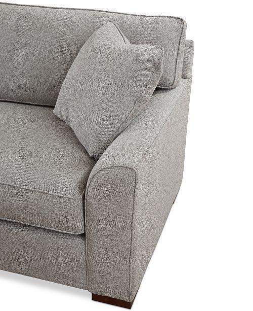 Furniture Closeout Carena 3 Pc Fabric Sectional Sofa