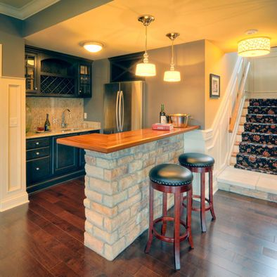 basement kitchen with small bar & basement kitchen with small bar | Basement Ideas | Pinterest ...