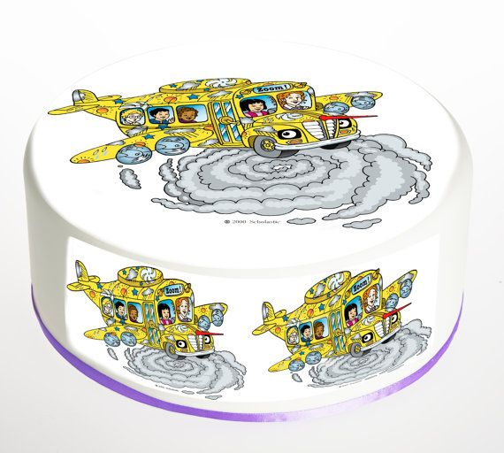 The Magic School Bus Edible 9.5 Inch Round Cake By