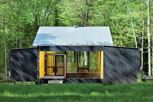 prefab modern cabin manificent decoration minimalist prefab cottage modern design in small forest top 7 unique - Modern Cabin Design