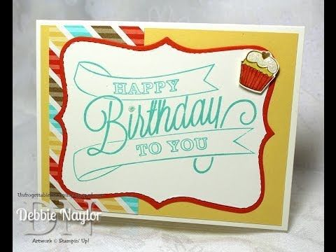 Unfrogettable Stamping | Stampin' Up! quick and easy birthday card video tutorial