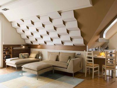 A nagy alapterületű nappalit az antik és modern bútorok és - wohnzimmer modern antik