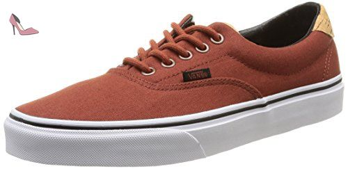 Vans MN Asher, Sneakers Basses Homme, Rouge (Washed Canvas), 41 EU