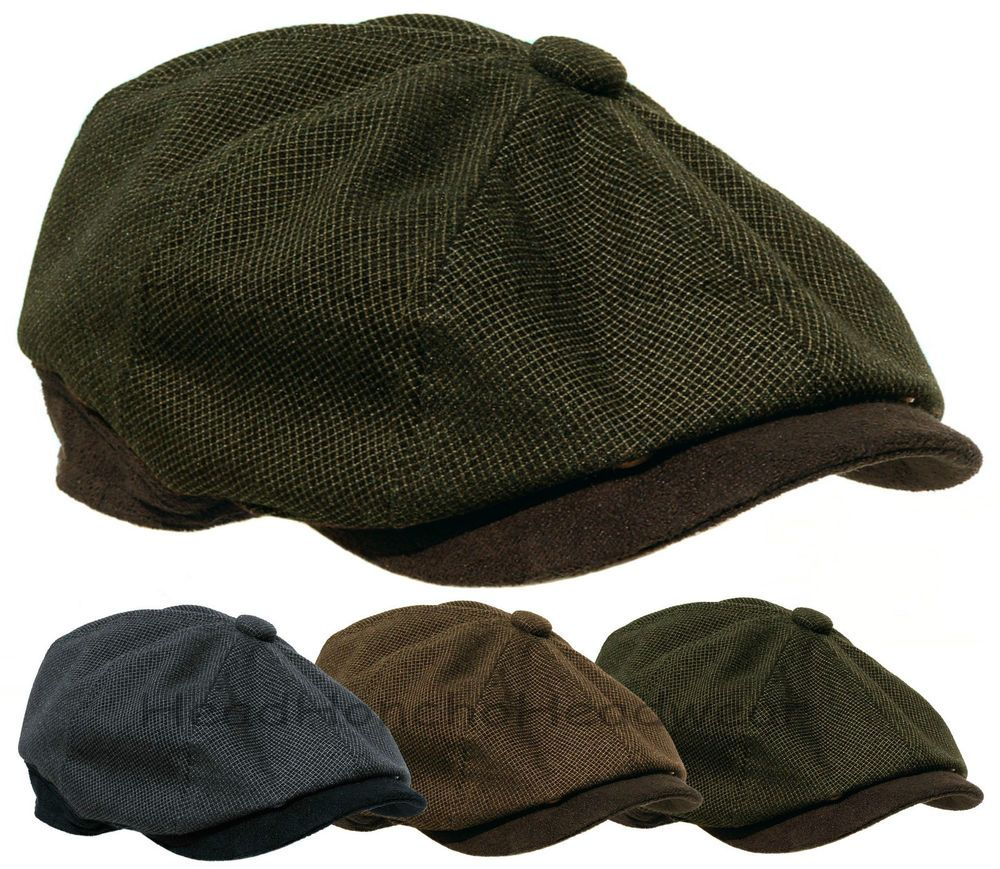 7bfa7b5a043 STETSON 8 Panel Newsboy Cap Gatsby Men Ivy Hat Golf Driving wool Flat  Cabbie M L in Clothing