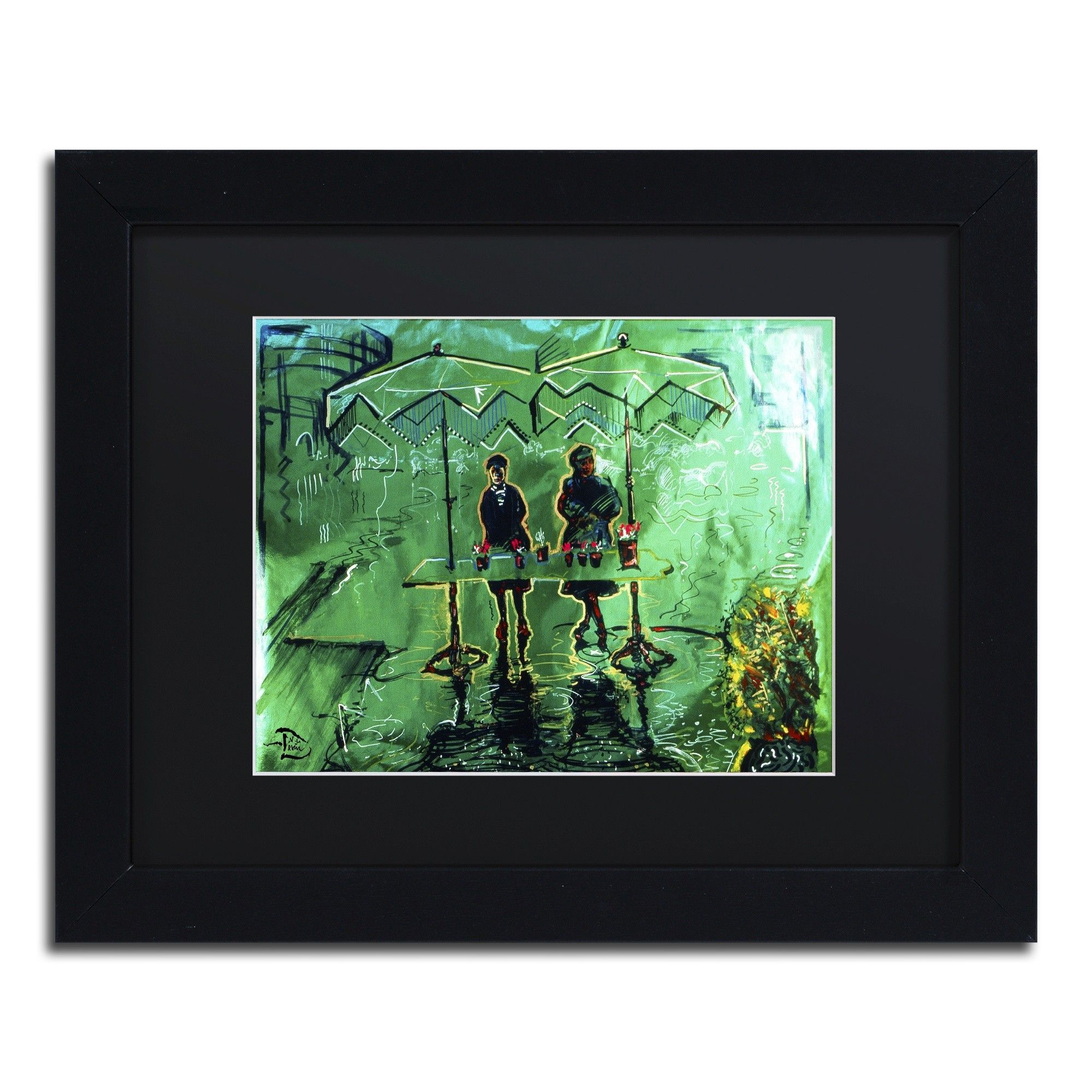Piccadilly Mudlarks by Lowell S.V. Devin Matted Framed Painting Print