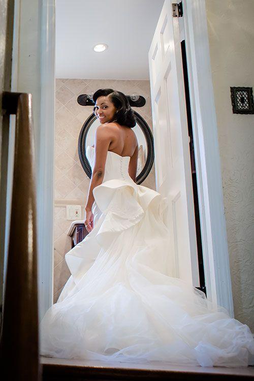 Elegant Long Island Wedding Bride In Truly Zac Posen Dress Brides