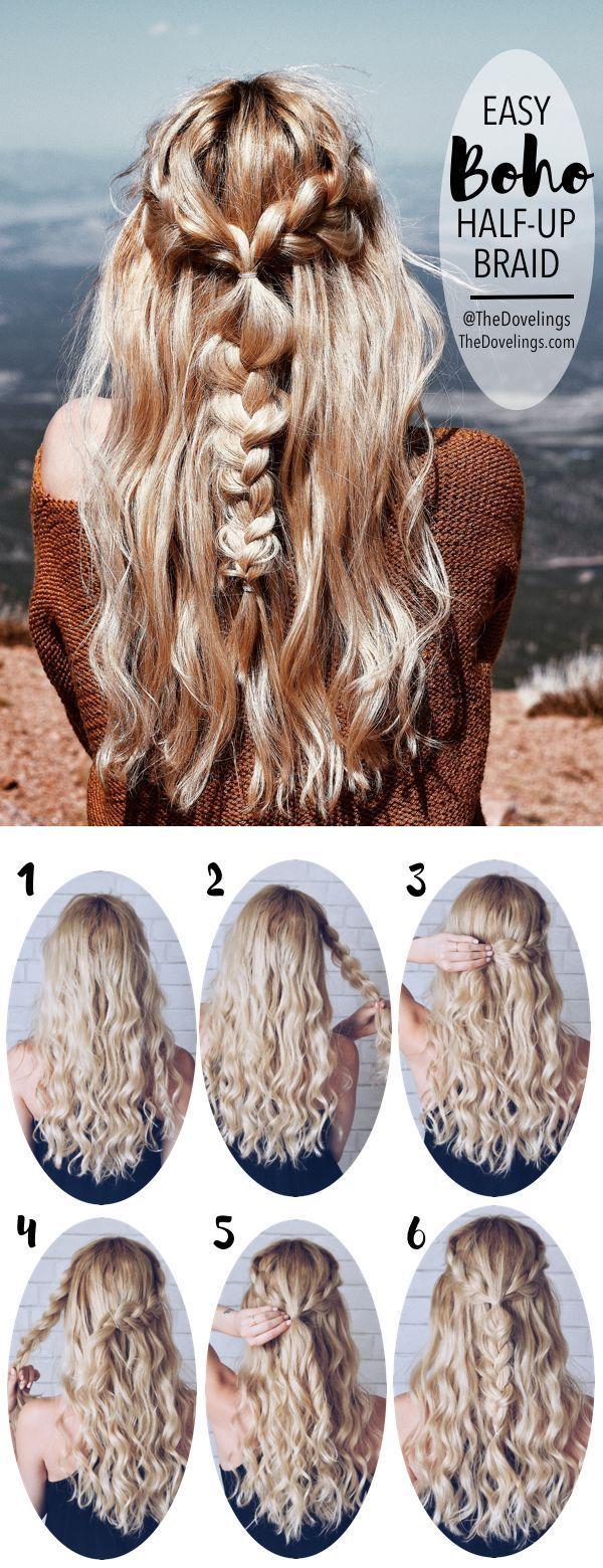 Hair Tutorials Boho Braids Hairstyle Long Hair Styles Blonde Hair Hair Style Braids Crown T Braids For Long Hair Long Hair Styles Boho Braided Hairstyles