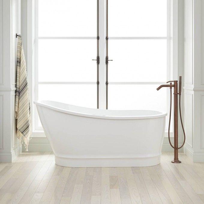 61 Rione Acrylic Freestanding Slipper Tub Acrylic Tubs