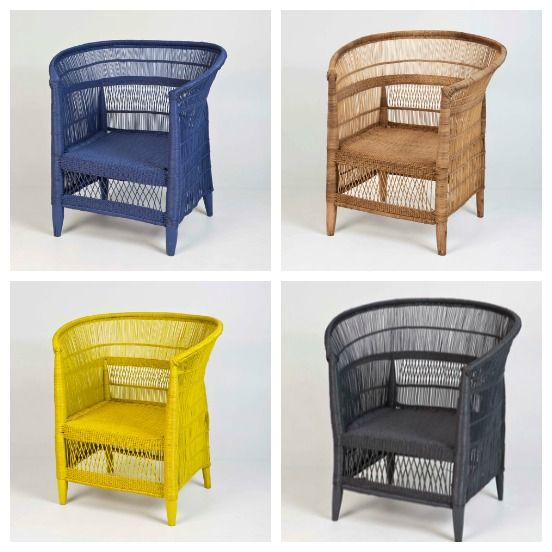 Malawian Cane Chairs Spraypainted In Any Colour