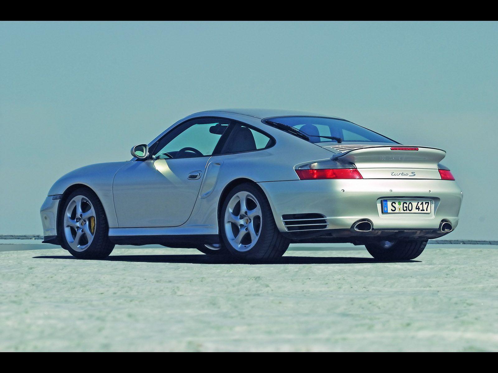 2005 porsche 911 turbo s rear angle 1600x1200 wallpaper