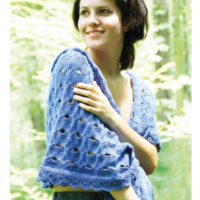 Download The Knitting Pattern For This Lacy Wrap Knitting