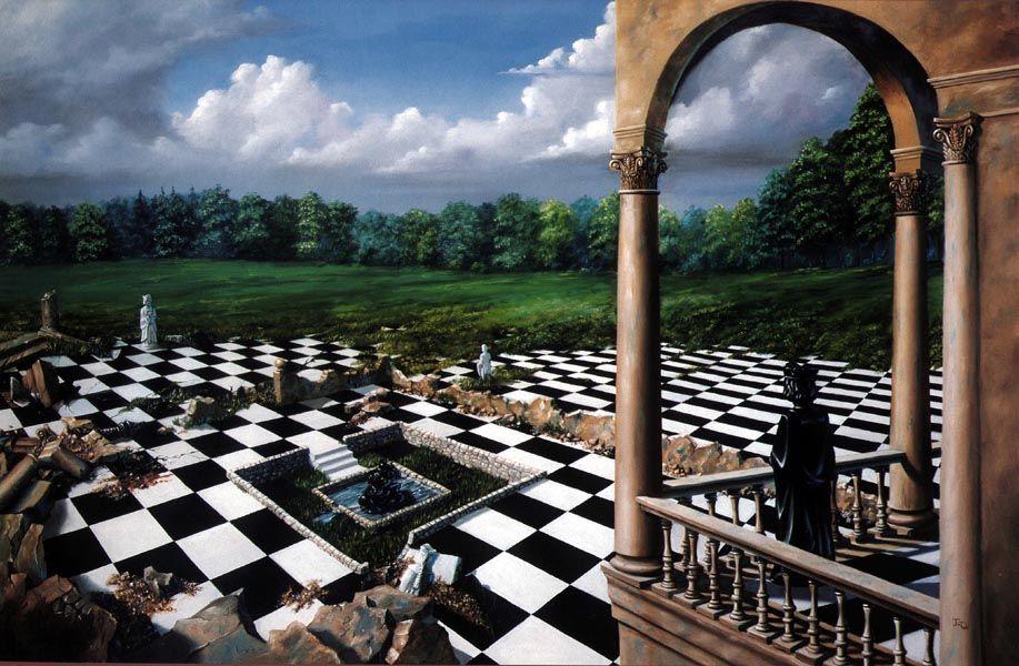 Картинка с шахматами из алисы в стране чудес, для