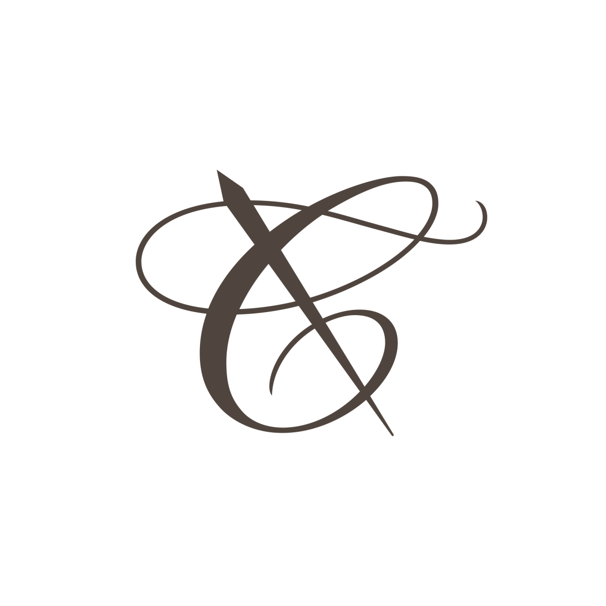 Logo with Needle, logo with Thread, Letter C logo, vector